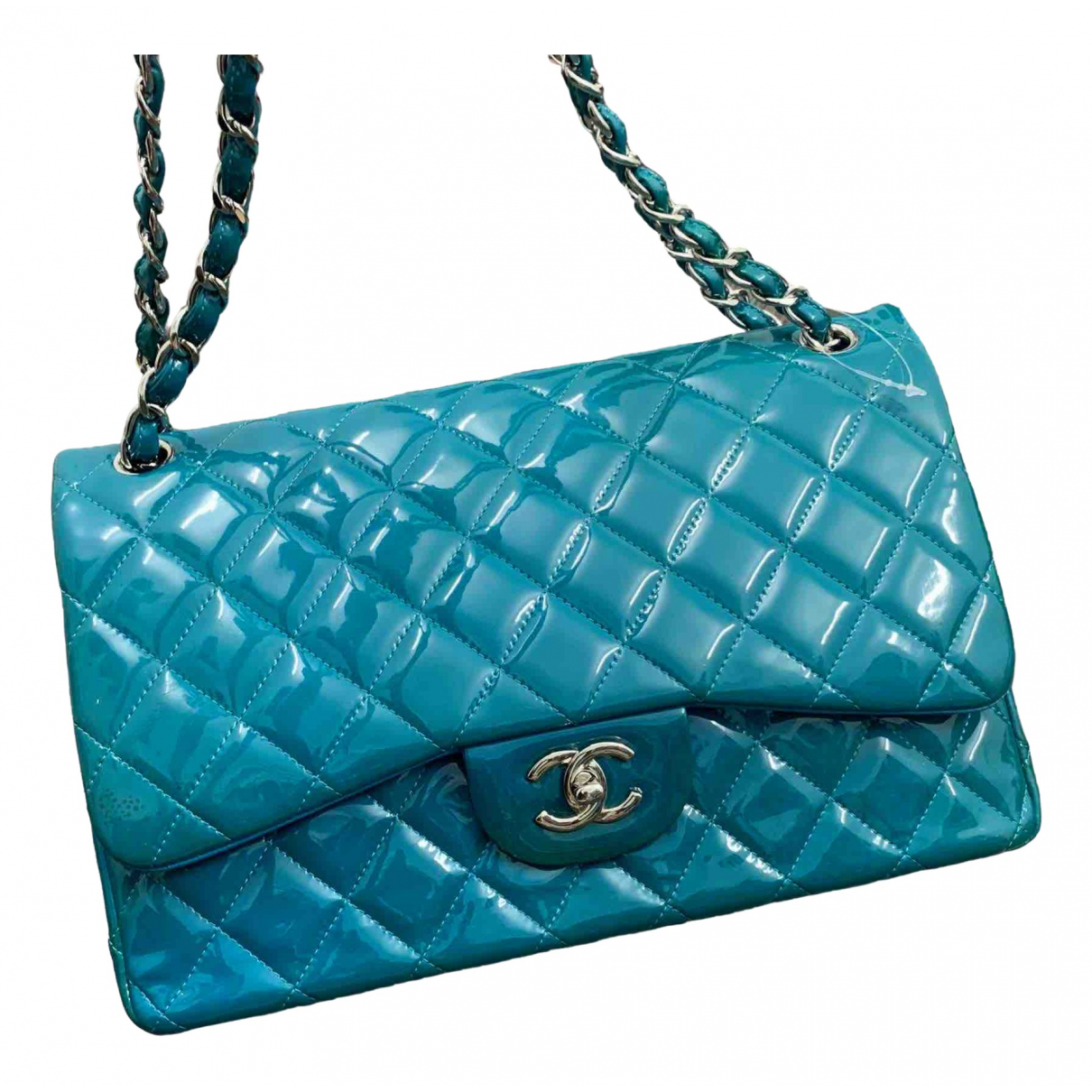 Chanel Timeless/Classique Blue Patent leather handbag for Women \N