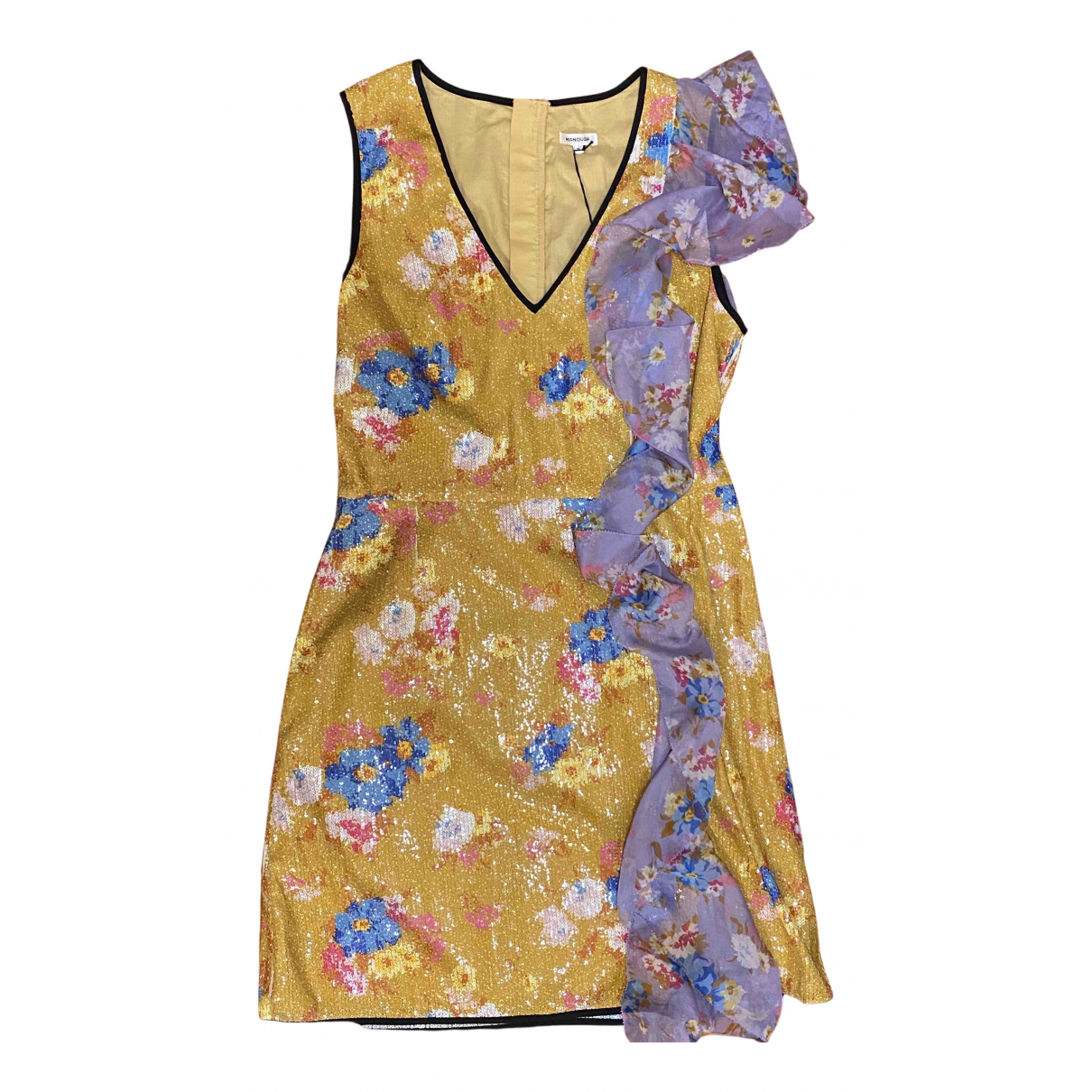 Manoush \N Kleid in  Gelb Polyester