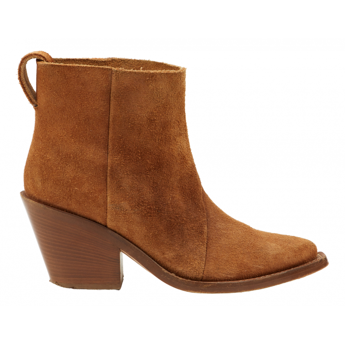 Acne Studios Donna Camel Suede Ankle boots for Women 40 EU