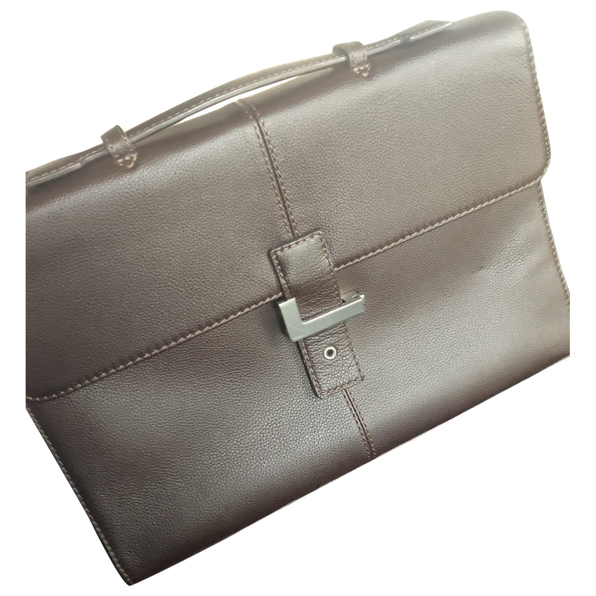 Lancel Oscar Brown Leather bag for Men \N