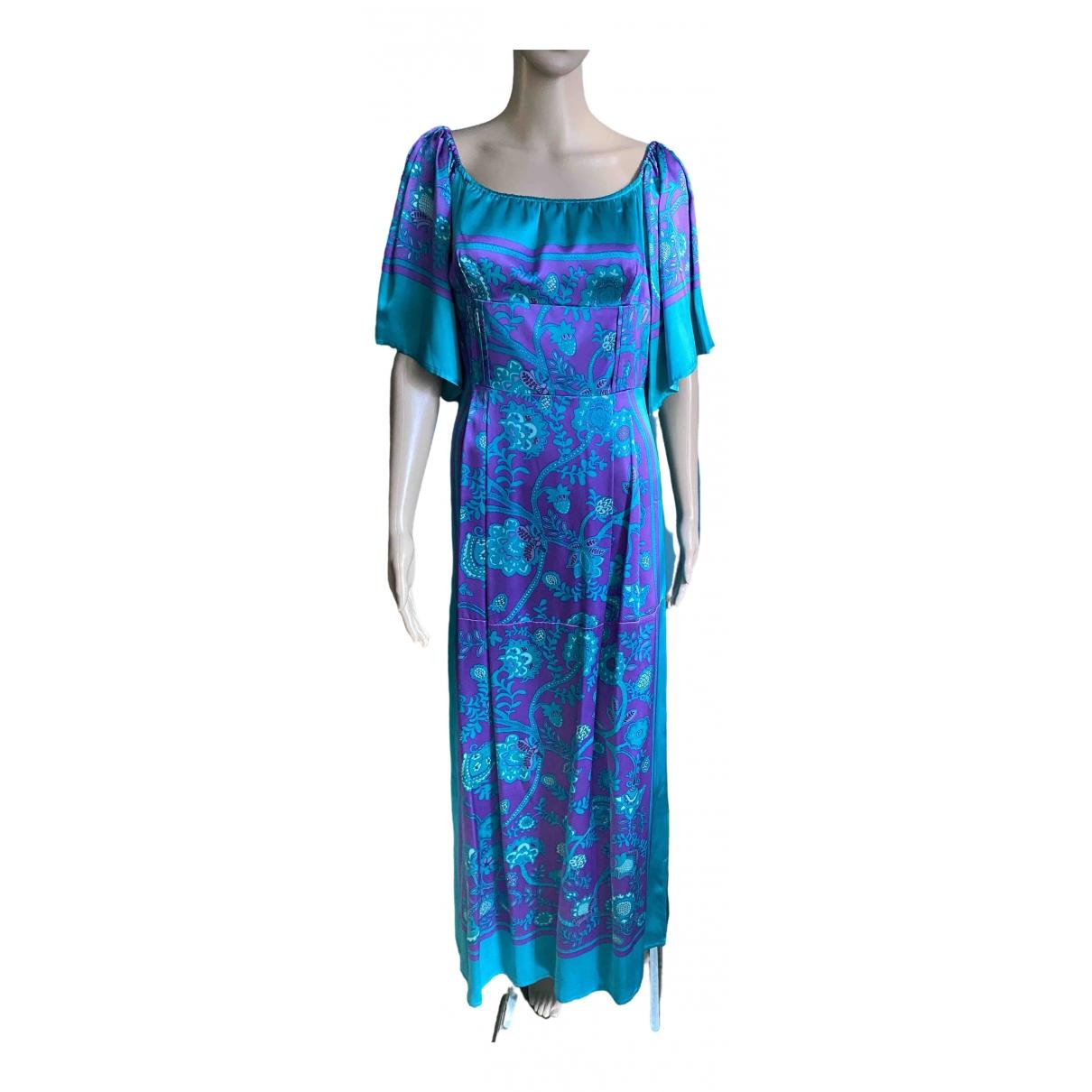 Karen Millen \N Kleid in  Tuerkis Seide