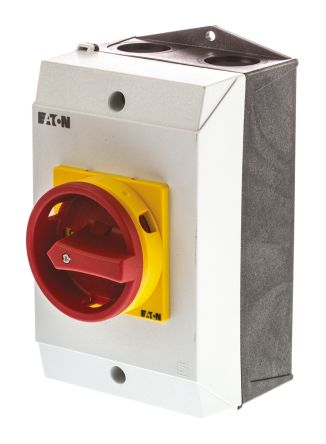 Eaton 2 Pole Enclosed Non Fused Isolator Switch - 32 A Maximum Current, 13 kW Power Rating, IP65
