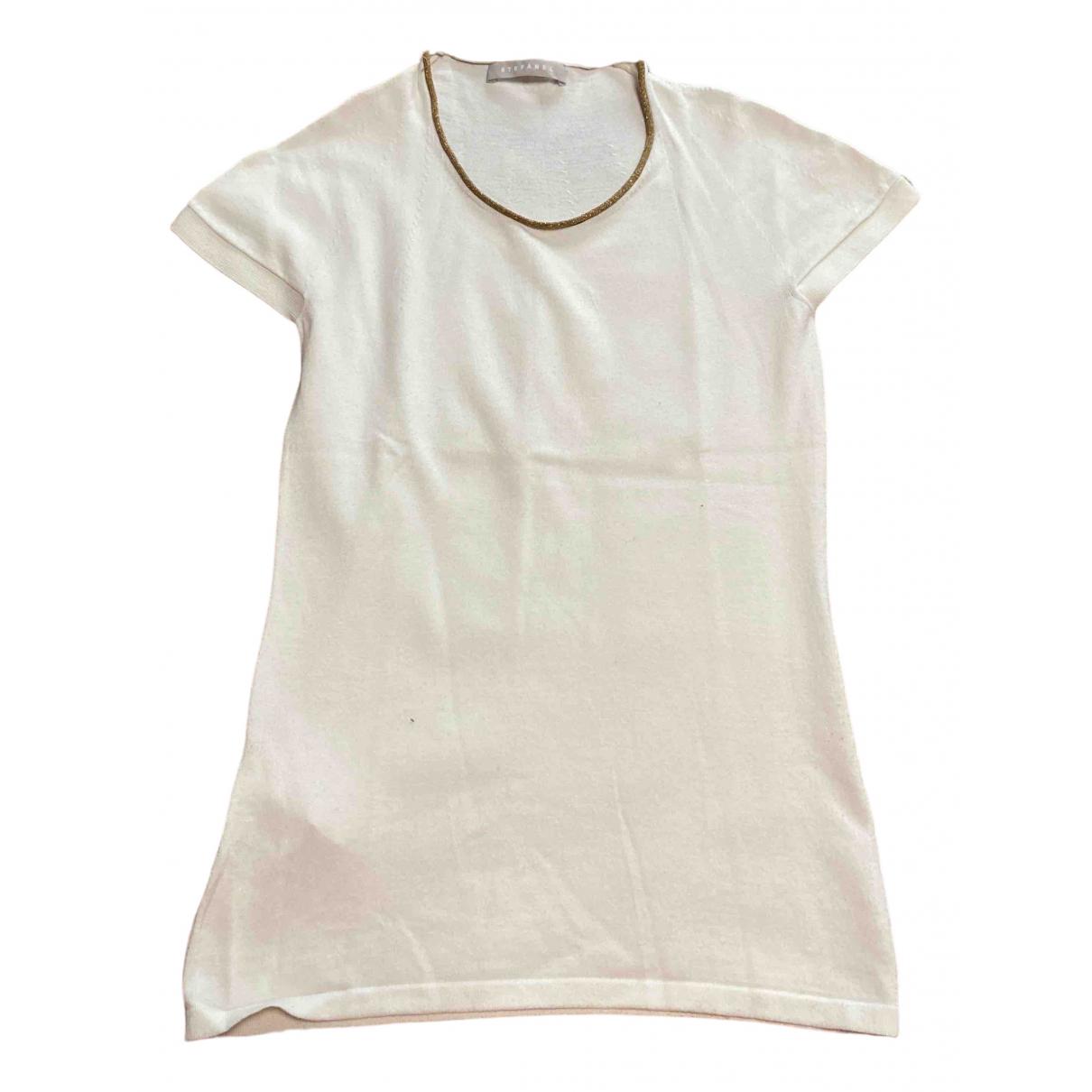 Stefanel - Top   pour femme - blanc