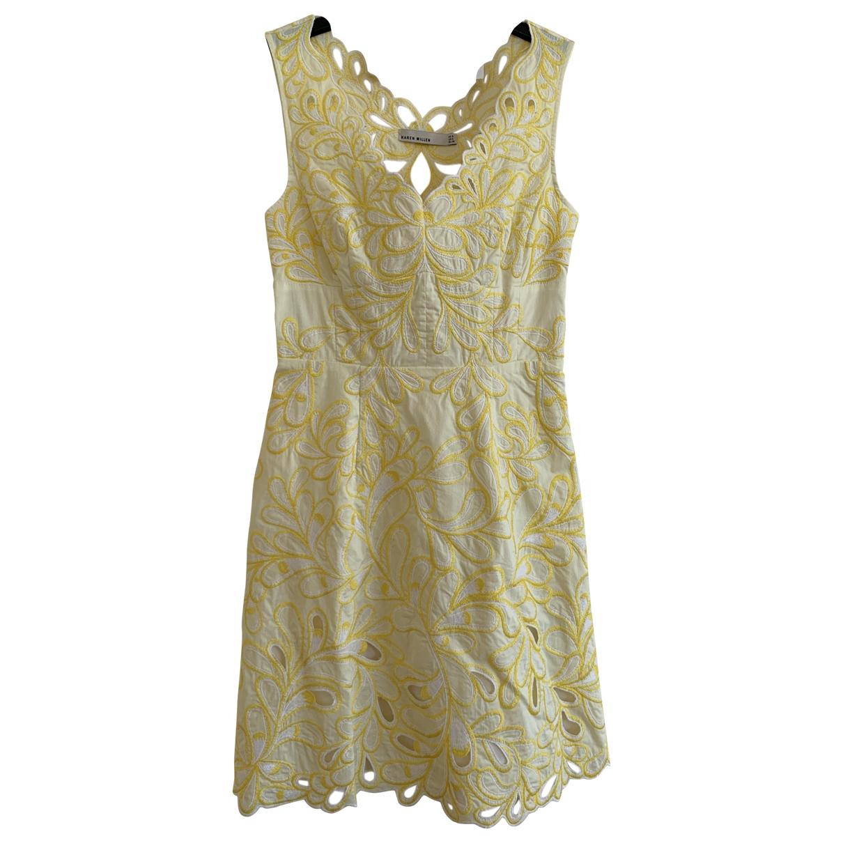 Karen Millen \N Kleid in  Gelb Baumwolle
