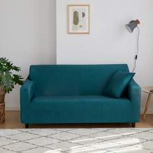 Solid Color Stretchy Sofa Cover Without Cushion