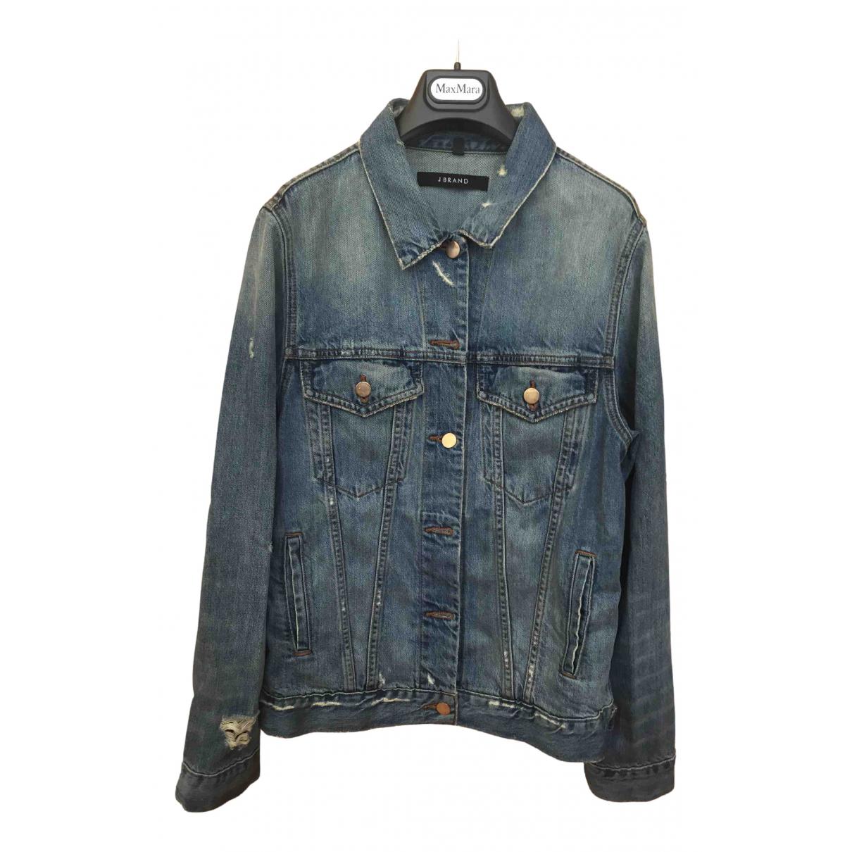 J Brand \N Lederjacke in  Blau Denim - Jeans