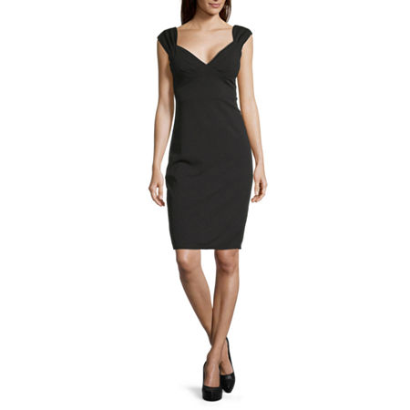 Premier Amour Sleeveless Sheath Dress, 4 , Black