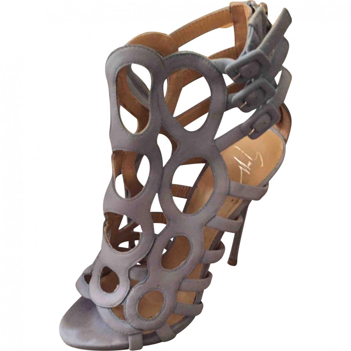 Giuseppe Zanotti \N Blue Suede Sandals for Women 38 EU