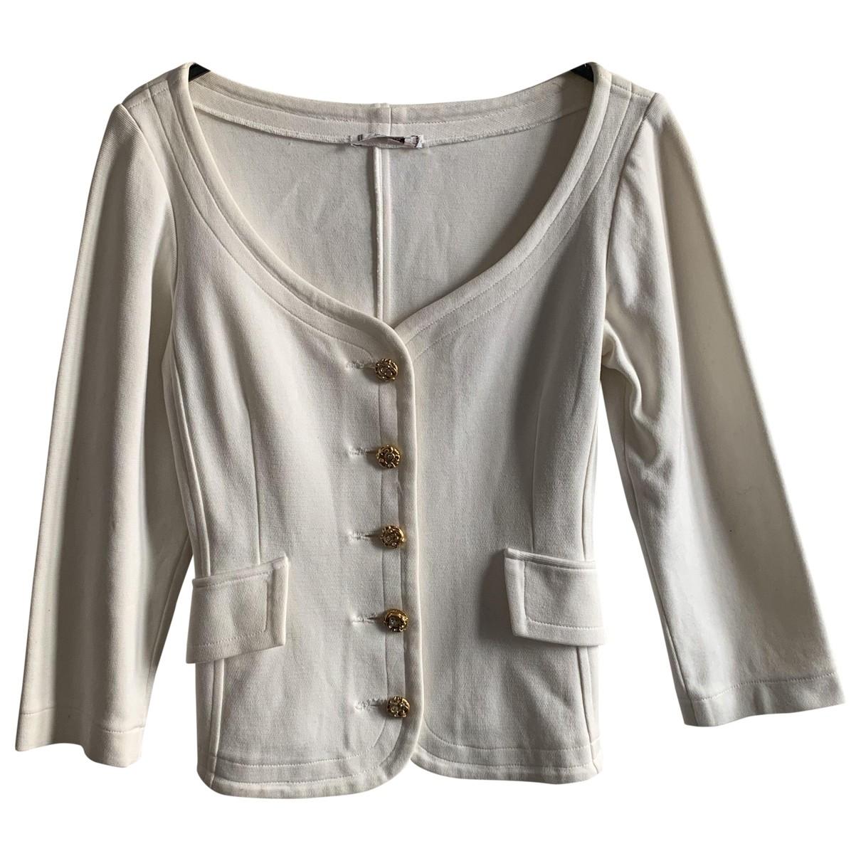 Yves Saint Laurent - Pull   pour femme en coton - ecru