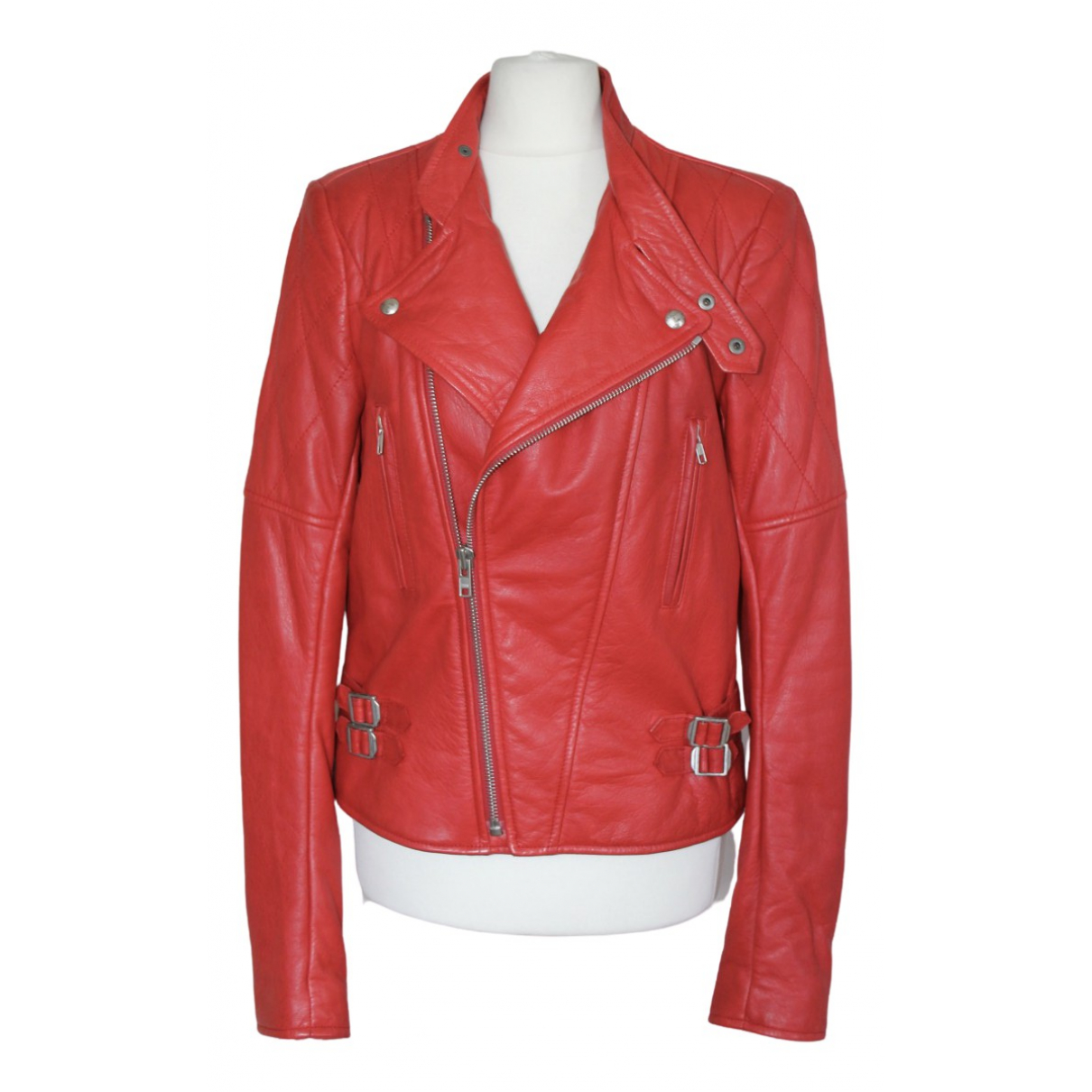 Joseph \N Red Leather jacket for Women 40 FR