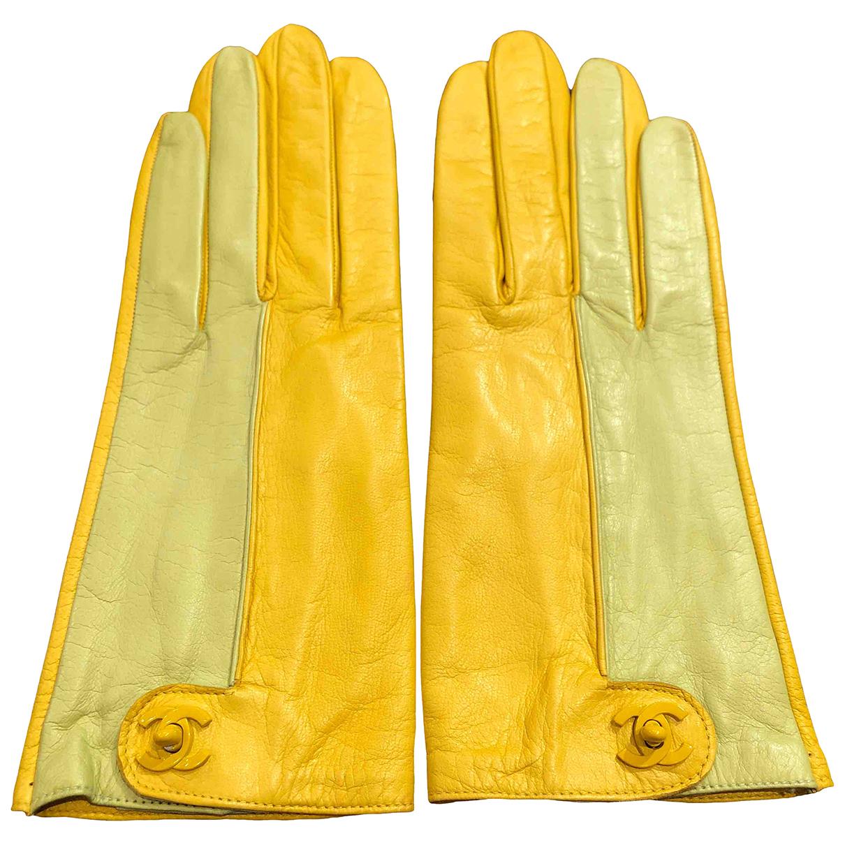 Chanel \N Handschuhe in Leder