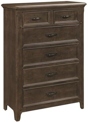 Ives Collection 205255 Chest with 6 Drawers  Gunmetal Hardware  Asian Hardwood Construction and Acacia Veneer Materials in Antique Mink