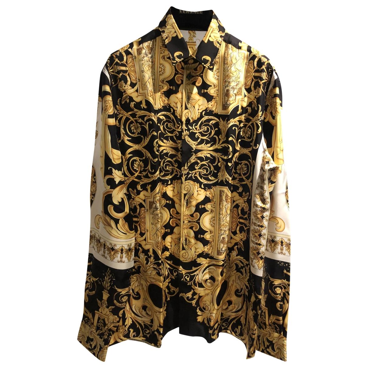 Versace - Chemises   pour homme en soie - multicolore
