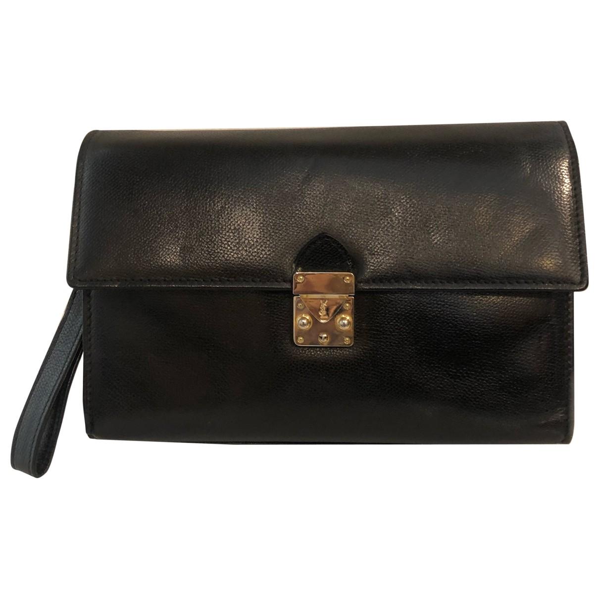 Yves Saint Laurent \N Black Leather Clutch bag for Women \N
