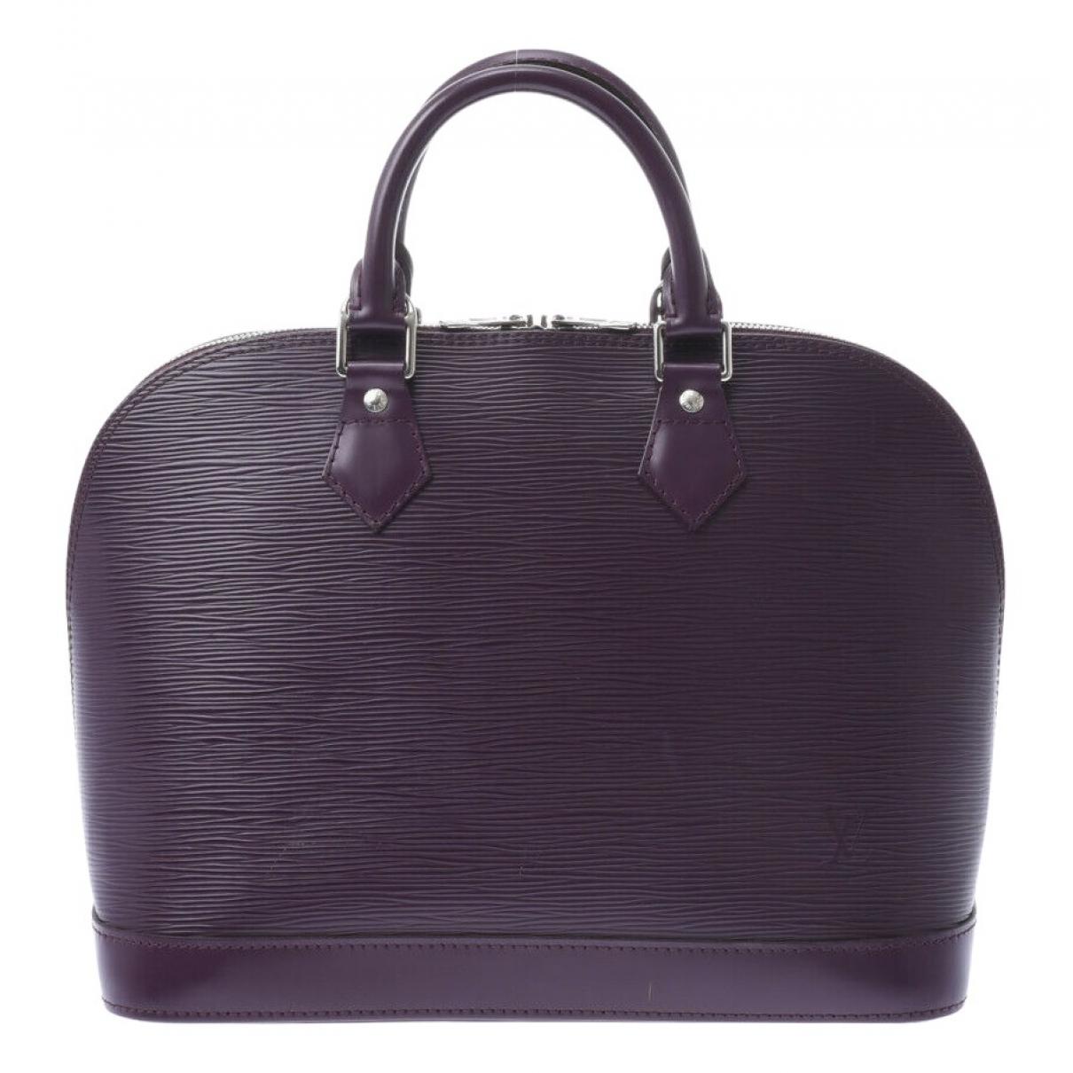 Louis Vuitton Alma Purple Leather handbag for Women \N