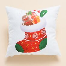Christmas Sock Print Cushion Cover Without Filler