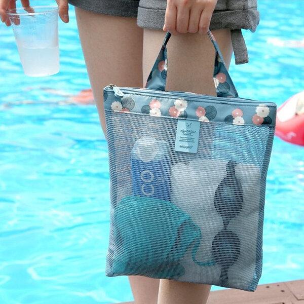 Portable Mesh Beach Storage Bag Light Travel Wash Bags