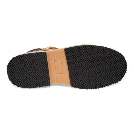 Fila Mens Landing Steel Toe Slip Resistant Slip Resistant Work Boots Flat Heel, 8 1/2 Medium, Brown