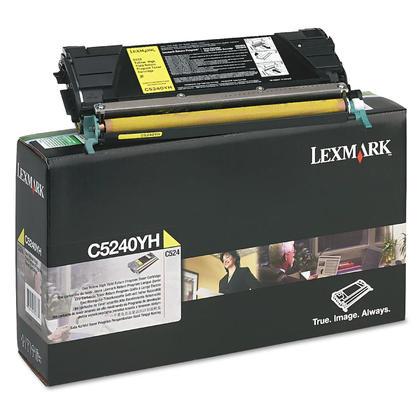 Lexmark C5240YH cartouche de toner du programme retour originale jaune haute capacité