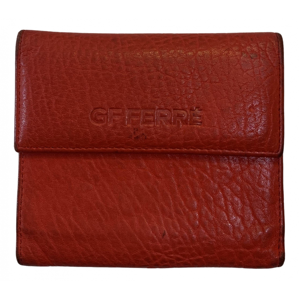 Gianfranco Ferre - Portefeuille   pour femme en cuir - rouge