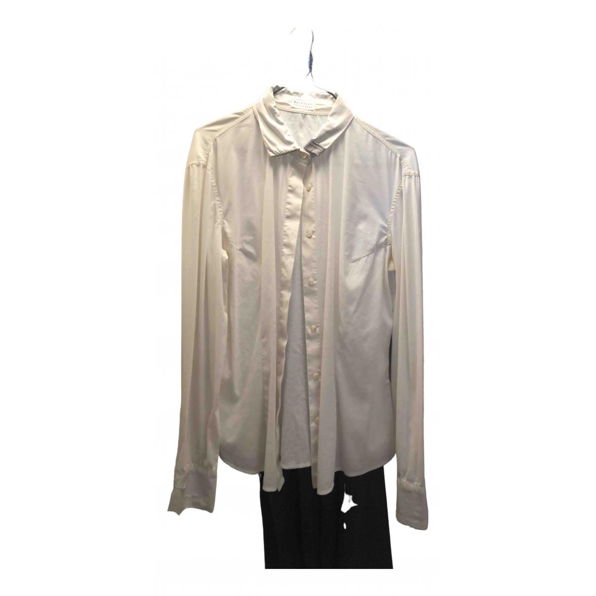 Brunello Cucinelli - Top   pour femme en coton - blanc