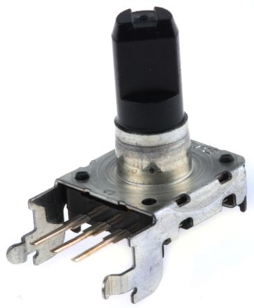 Alps Alpine 24 Pulse Mechanical Rotary Encoder Flat Shaft (Not Indexed), Through Hole