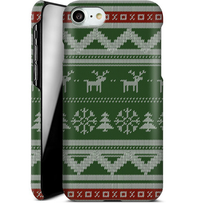 Apple iPhone 7 Smartphone Huelle - Norwegian Jumper Green von caseable Designs