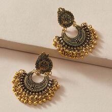 1 Paar Aushohlen Kugel Quaste Dekor Tropfen Ohrringe