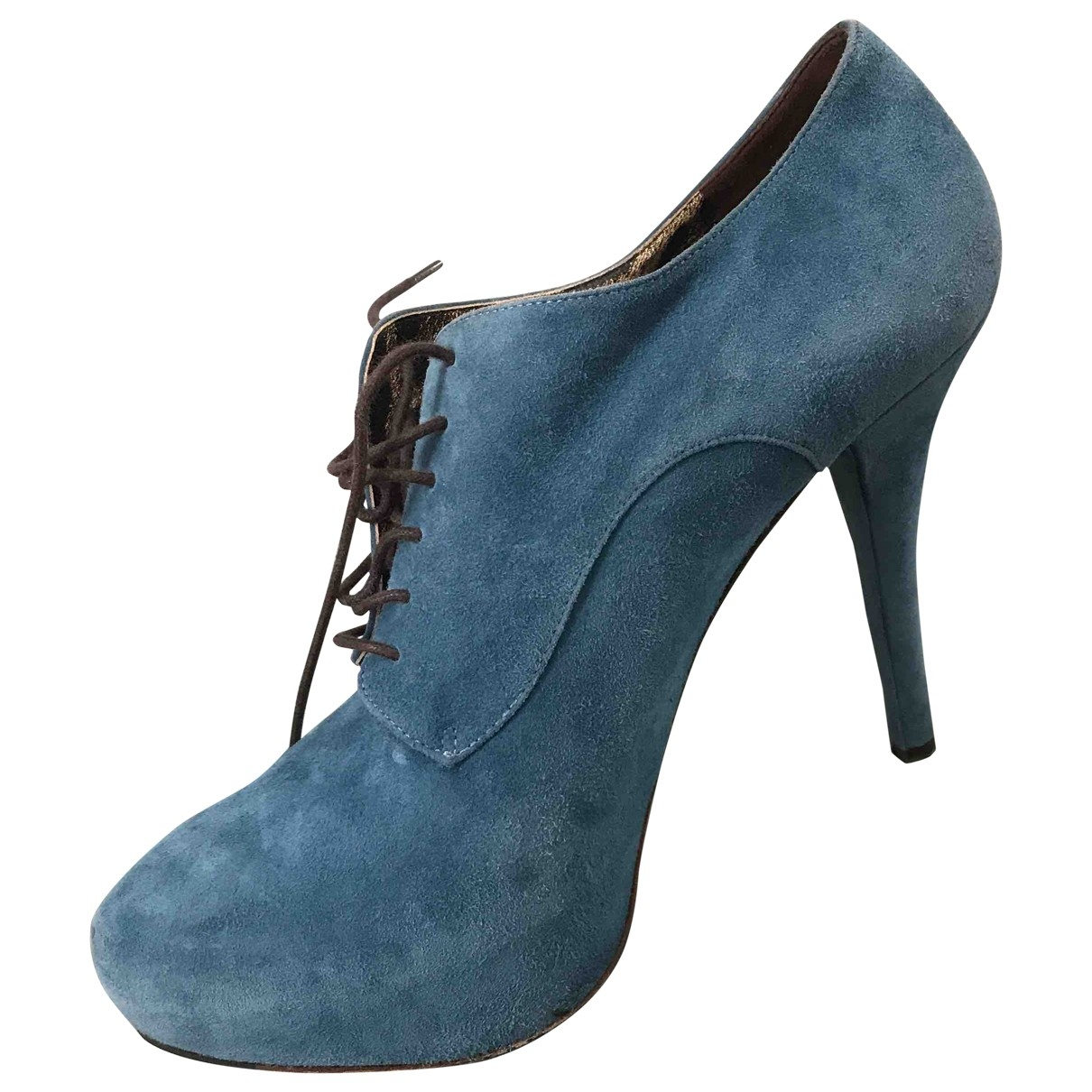 Dolce & Gabbana \N Blue Suede Ankle boots for Women 39 EU