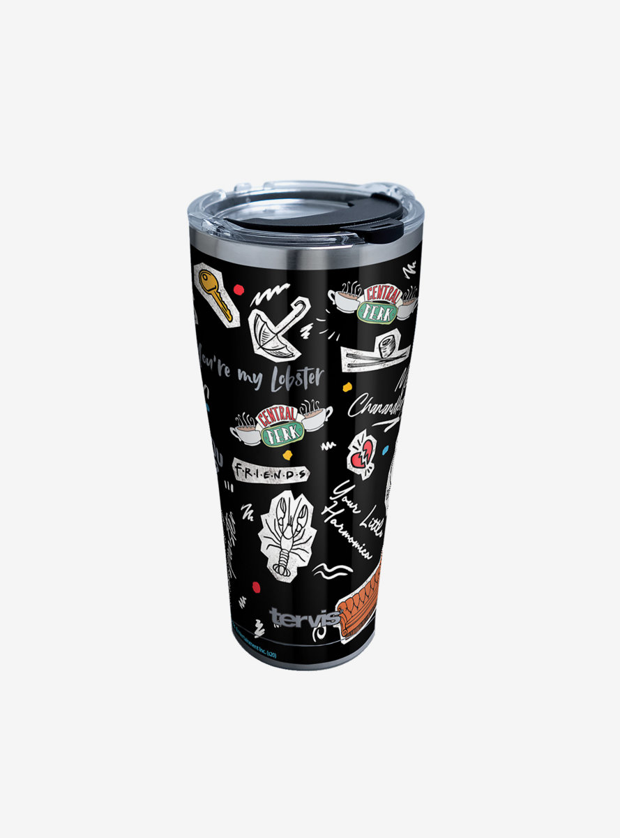 Friends Collage 30oz Stainless Steel Tumbler With Lid
