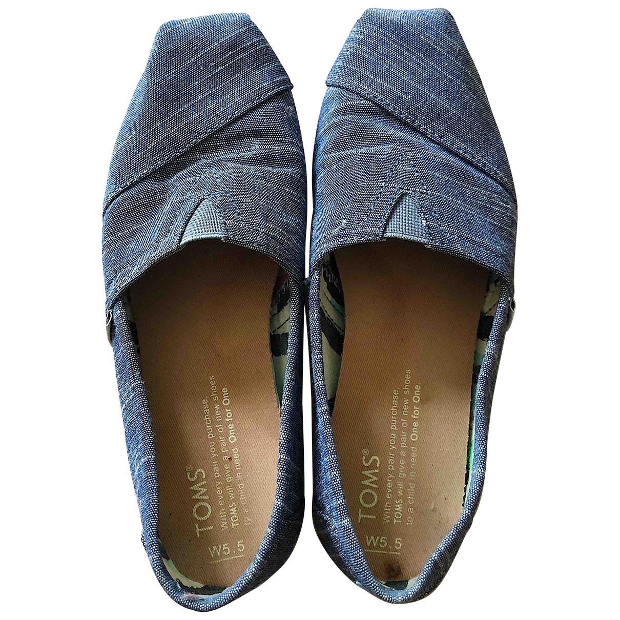 Toms - Mocassins   pour femme en toile - bleu