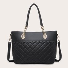 Quilted Dandle Handle Tote Bag