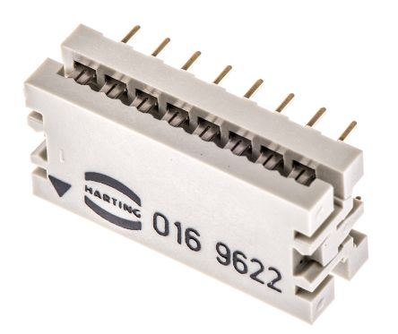 HARTING 16-Way IDC Connector Plug for Cable Mount, 2-Row