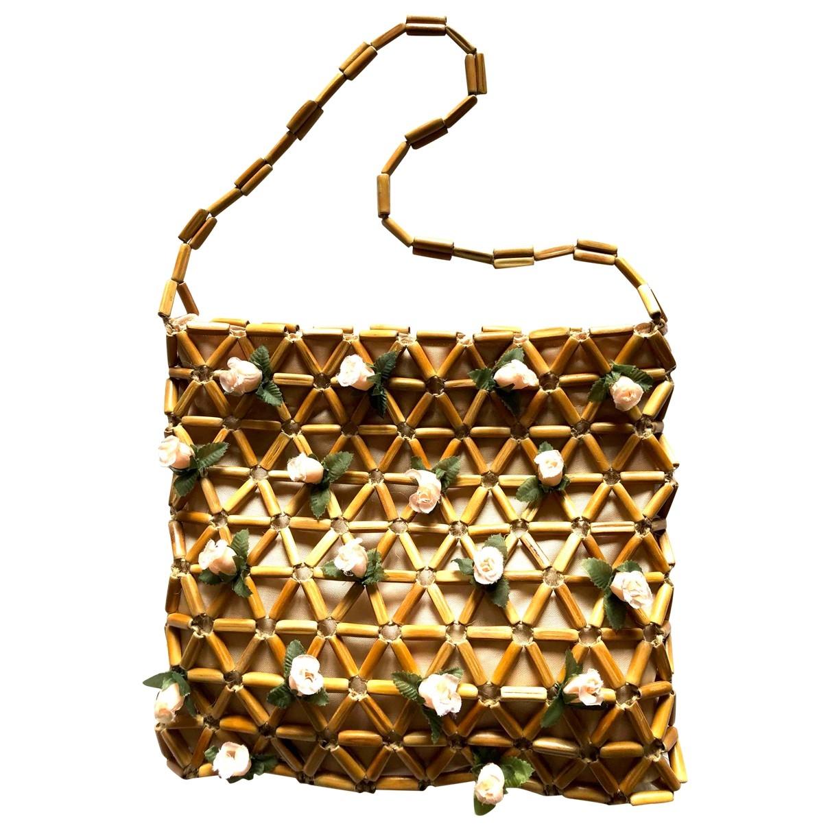 Non Signé / Unsigned Hippie Chic Camel Cloth handbag for Women \N