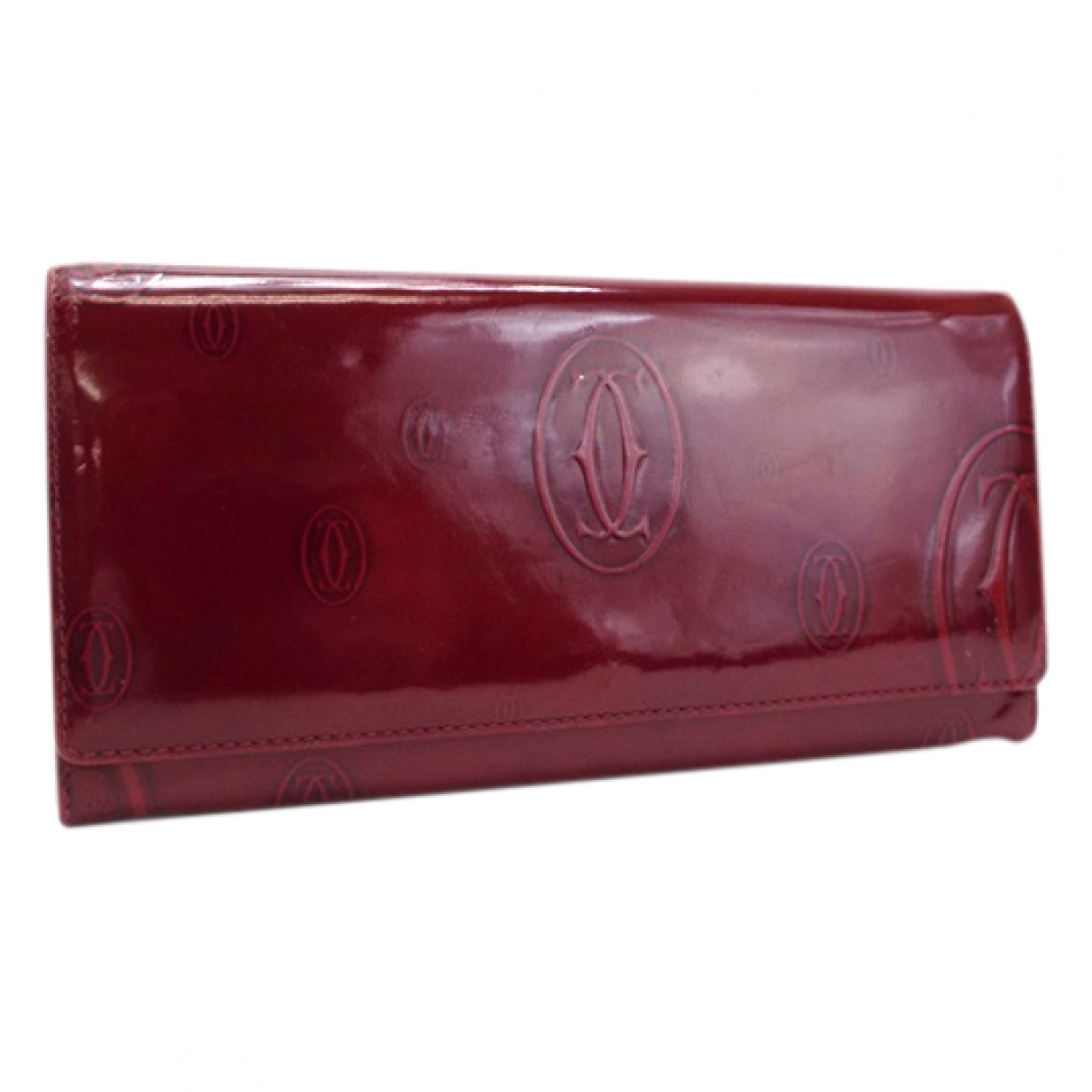 Cartier \N Burgundy Patent leather wallet for Women \N