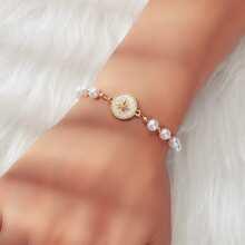 Faux Pearl Beaded Bracelet