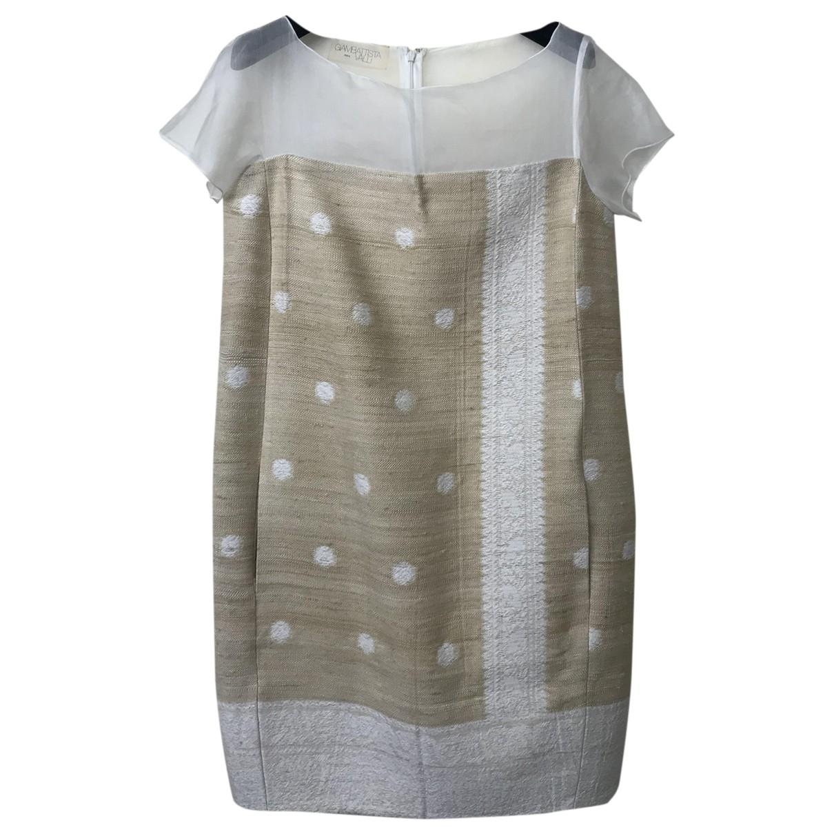 Giambattista Valli \N Beige Cotton dress for Women 40 IT