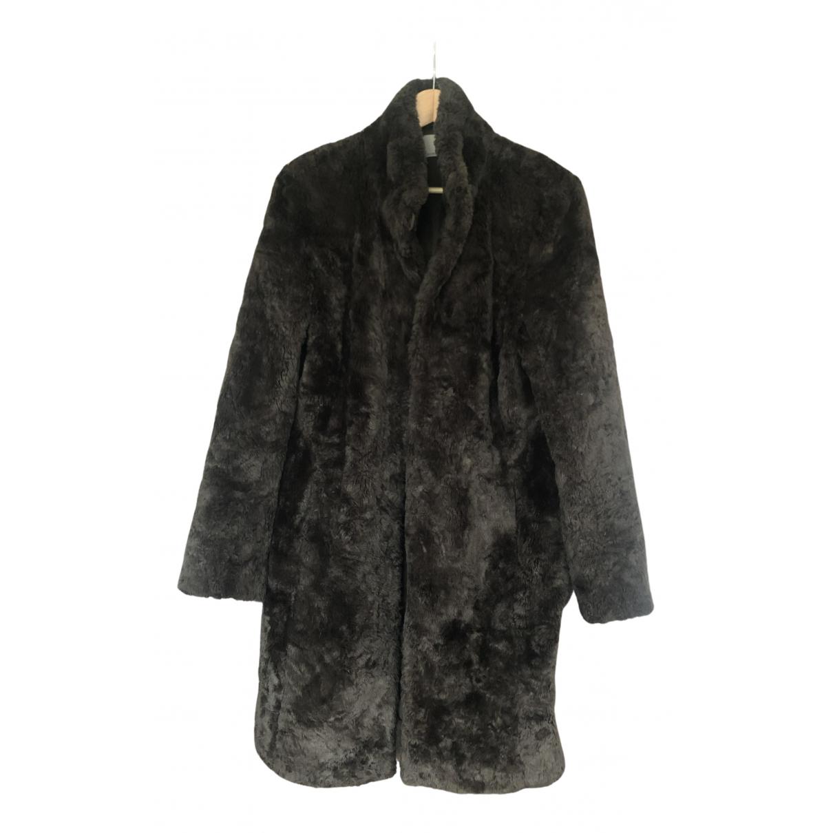 Non Signé / Unsigned N Brown Faux fur coat for Women 42 FR