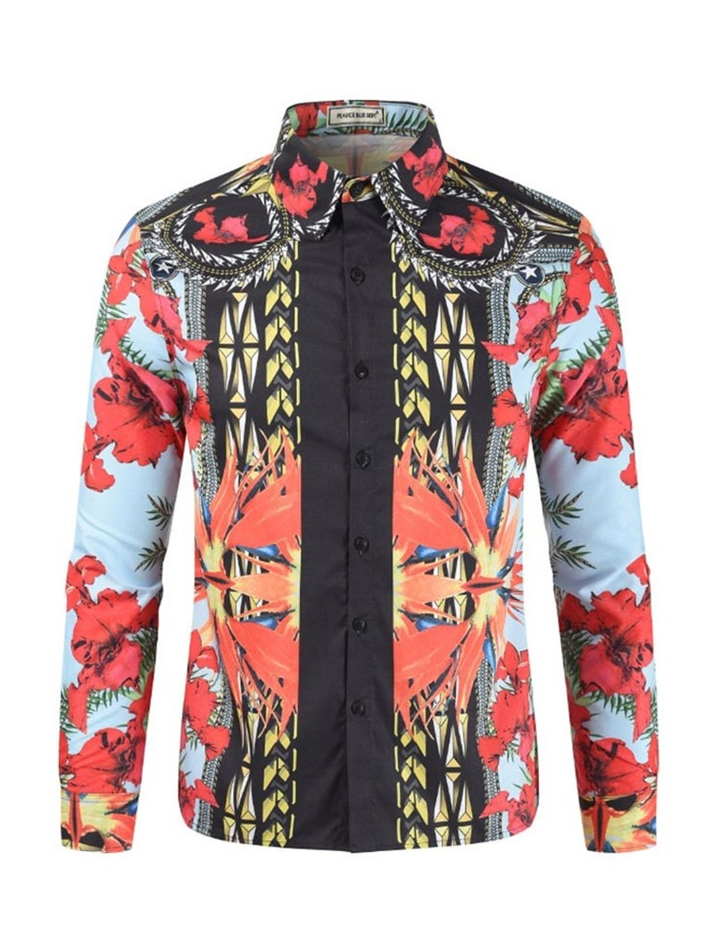 Ericdress African Fashion Dashiki Mens Button Up Casual Shirt
