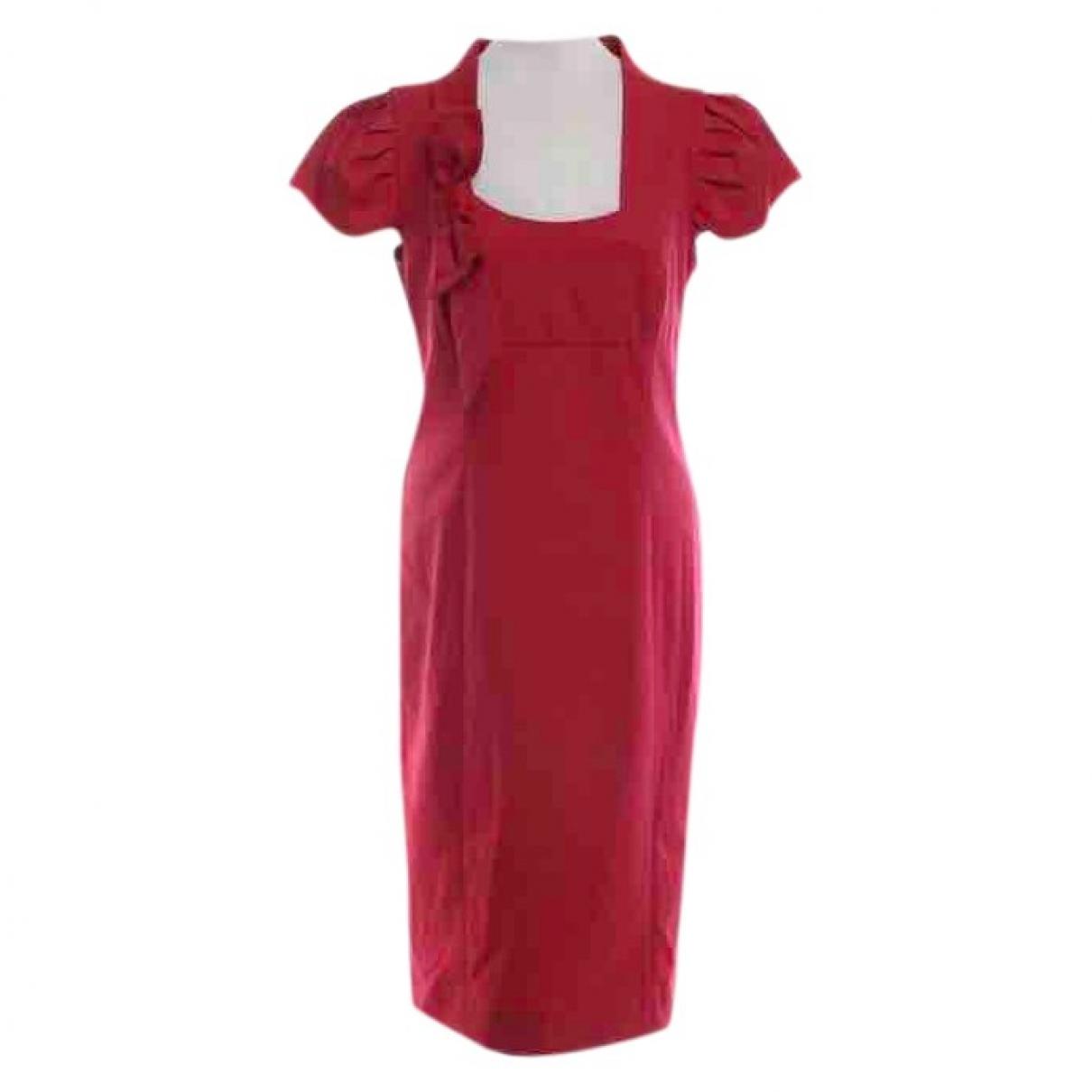 Red Valentino Garavani \N Kleid in  Rot Baumwolle