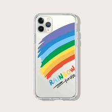 Colorful Stripe Clear iPhone Case