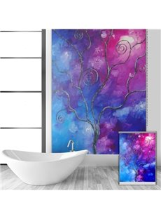 Creative Oil Painting Tree Printing Blackout 3D Roller Shades