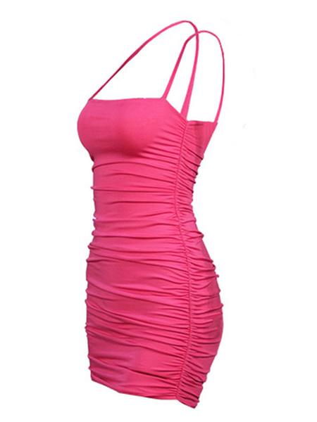 Milanoo Sexy Bodycon Dress Strapless Sleeveless Ruched Dress