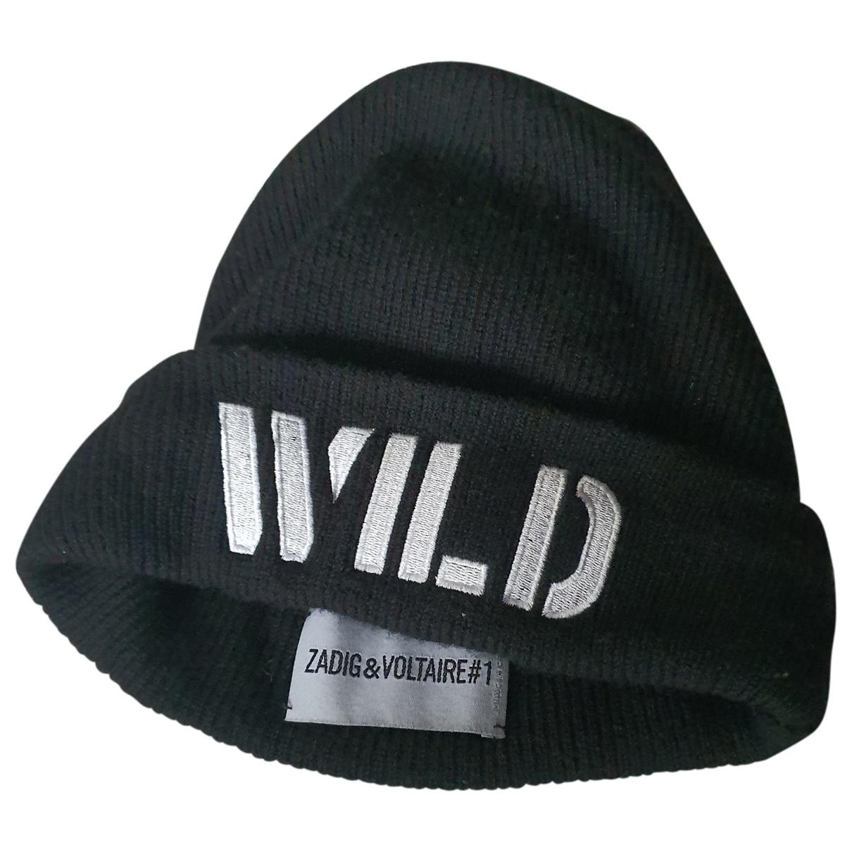 Zadig & Voltaire - Chapeau   pour femme en coton - noir