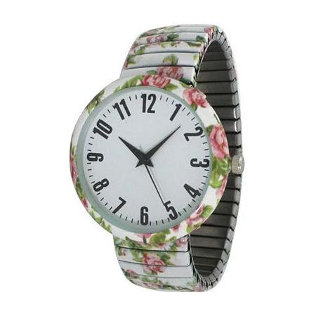 Olivia Pratt Womens White Strap Watch-B80009white, One Size , No Color Family