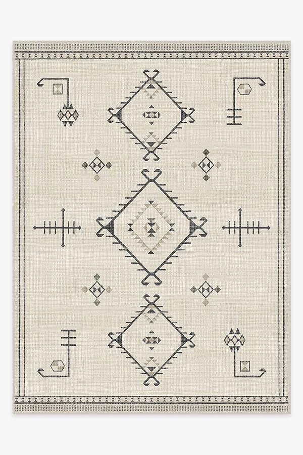Washable Rug Cover | Damali Black & White Rug | Stain-Resistant | Ruggable | 9'x12'