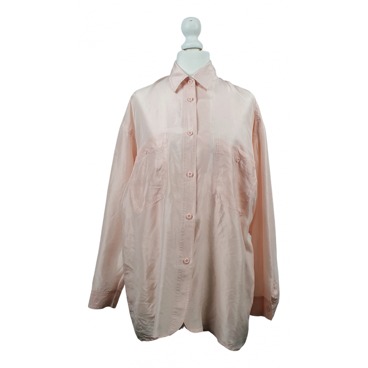 Non Signé / Unsigned \N Pink Silk  top for Women One Size FR