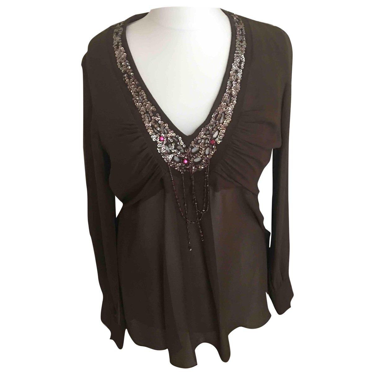 Antik Batik \N Brown Silk  top for Women L International