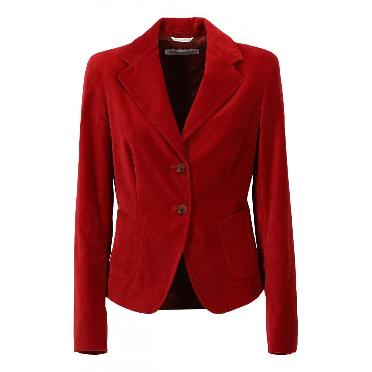 Max Mara - Veste   pour femme en coton - rouge