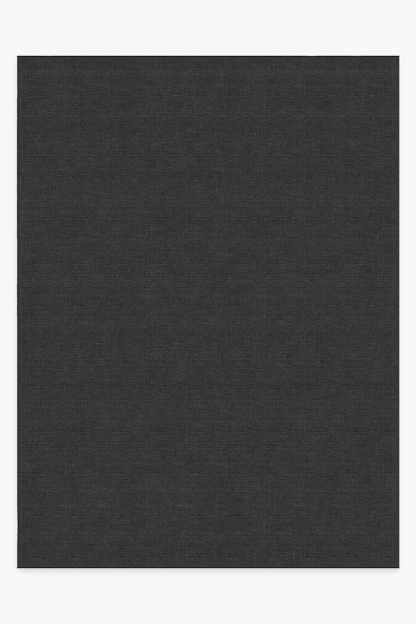 Washable Rug Cover & Pad | Heathered Solid Charcoal Rug | Stain-Resistant | Ruggable | 9'x12'